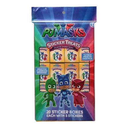 20ct PJ Masks Valentine Sticker Treat Boxes