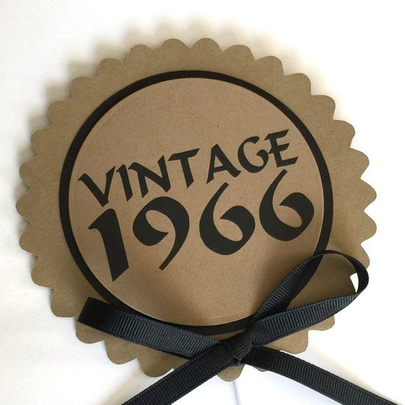 50th Birthday Vintage 1967 Cake Topper Decoration Candy