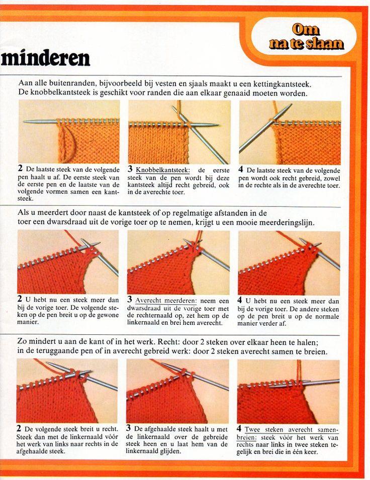 Kantsteken meerderen en minderen bij breien 2
