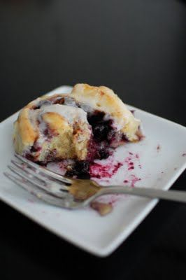 Blueberry Cinnamon Rolls! Yes, Please!