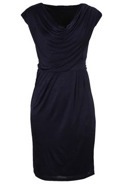 You can't go wrong with a dress in a conservative hue. Jazz it up with coloured accessories or tone it down with neutral shoes.  This dress is versatile with its soft draping and a mid length hem - it would look great in the office, at after-work drinks, or with some mettalic sandals when you are out with the girls.  But make sure you get the right style for YOUR bodyshape!