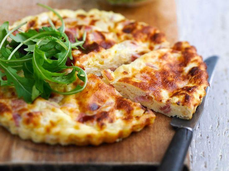 Découvrez la recette Quiche lorraine sans pâte sur cuisineactuelle.fr.