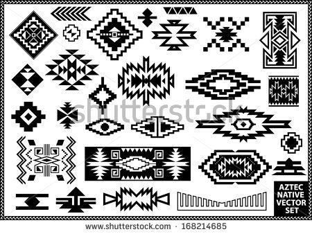 Aztec Native Navajo design elements vector set by Emre Tarimcioglu, via Shutterstock