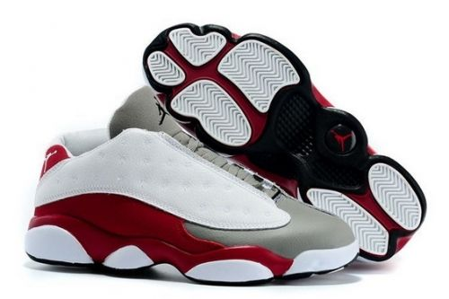 a70eb5cdb956 Popular Air Jordan 13 Low White-Red Cement Grey - Mysecretshoes