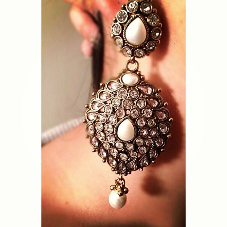 kundan earrings indian bridal jewelry