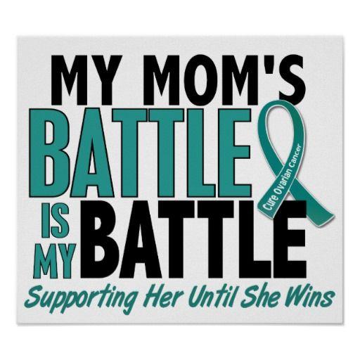Ovarian Cancer Awareness Mom Poster -