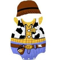 Classic Disney cartoon character Woody Pride from Toy Story. Two piece outfit romper and hat. Sizes 6-18m. $25. Order at www.babylunaboutique.com