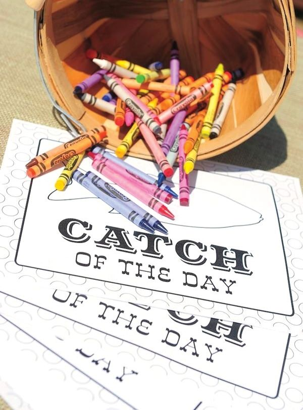 Fishing Birthday Party Activities www.spaceshipsandlaserbeams.com