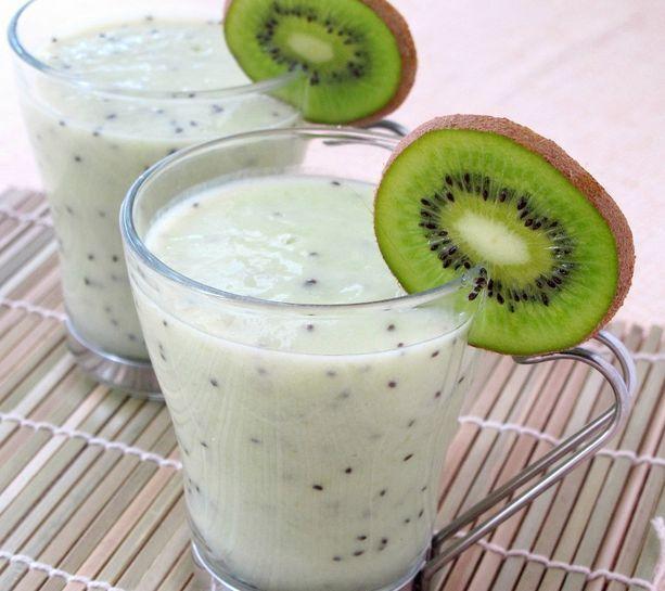 Batido detox casero ideal para cenar yogurt bajar de - Batidos de kiwi ...