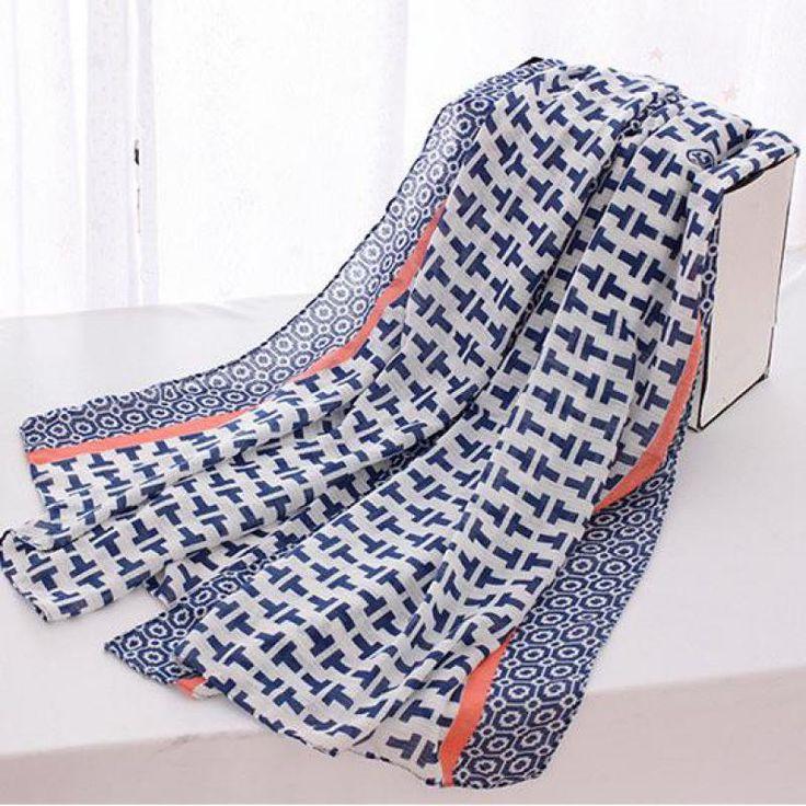 180*90cm New 2016 Fashion Female Women Geometric Pattern High Quality Cotton Material Cheap scarves