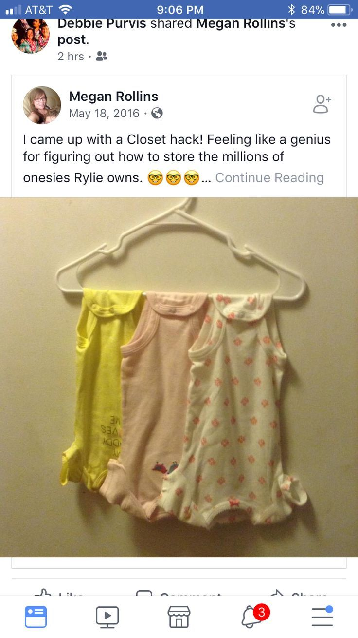 Closet Hack Saving Room How To Hang And Store Onesies For Baby