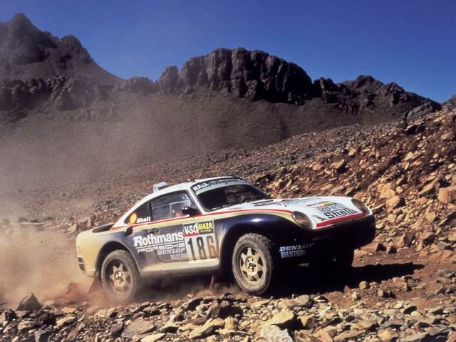 Porsche 959, Dakar Rally