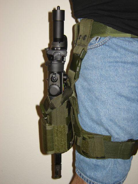 AR-15 Pistol in leg holster. VERY INTRIGUING! | AR pistol ...