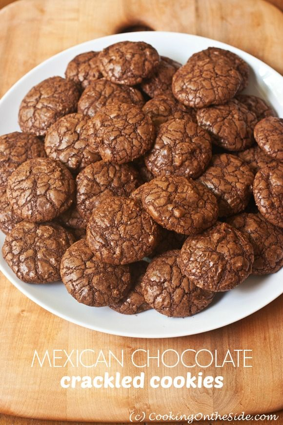 Mexican Chocolate Crackled Cookies -- they've got a little kick!