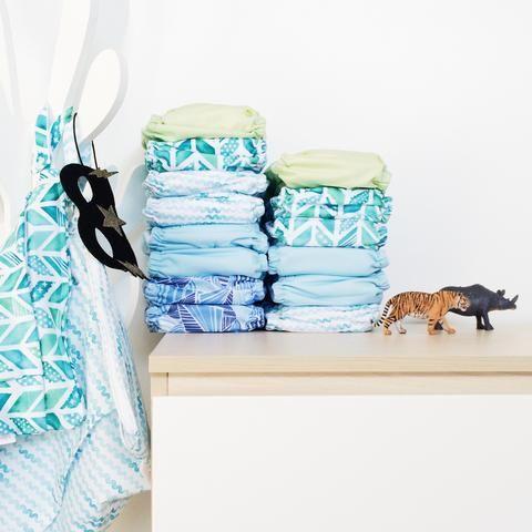 EcoNaps Modern Cloth Nappy designer prints.