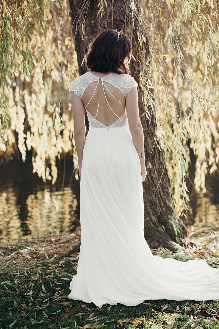 The back of our Josie gown #lissimon #bridal #weddinggown #weddingdress