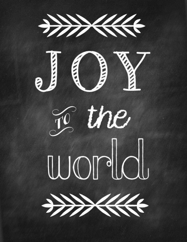 JOY TO THE WORLD free printables. EASY Christmas decor!!