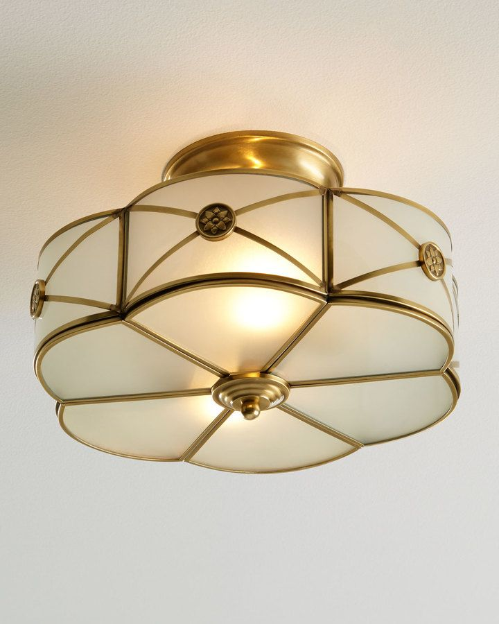 Shop Preston Semi-Flush-Mount Ceiling Fixture at Horchow where youu0027ll find new lower shipping on hundreds of home furnishings and gifts. & 147 best Lighting Lamps Candeliers images on Pinterest   Bulbs ... azcodes.com