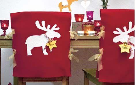 Fundas navideñas de fieltro para las sillas | Holamama blog                                                                                                                                                                                 Más