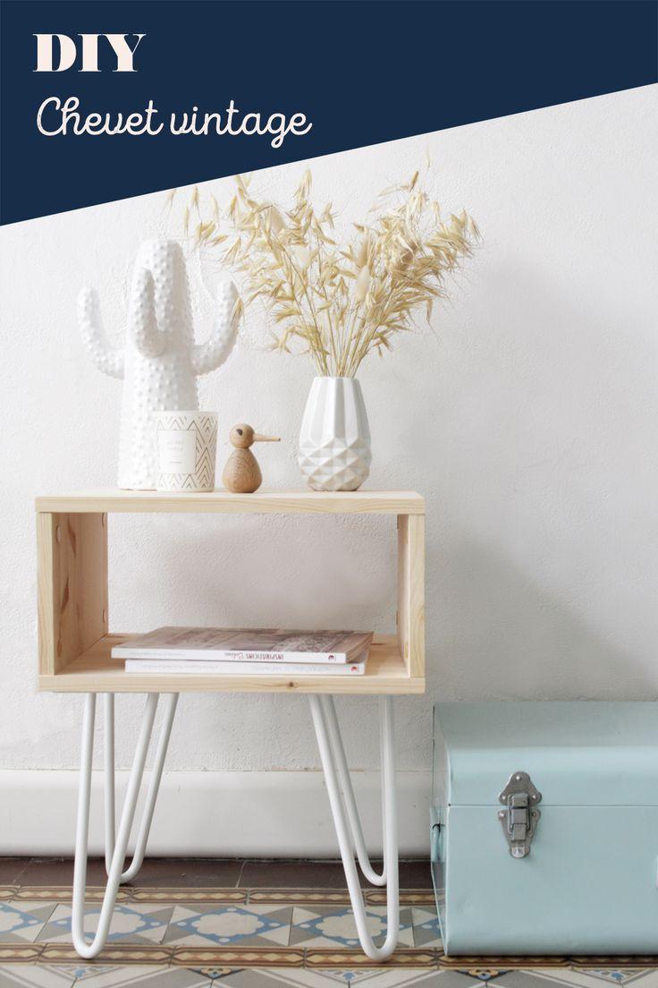 DIY Table d'appoint rétro avec hairpin legs Ripaton // Hëllø Blogzine blog deco & lifestyle www.hello-hello.fr