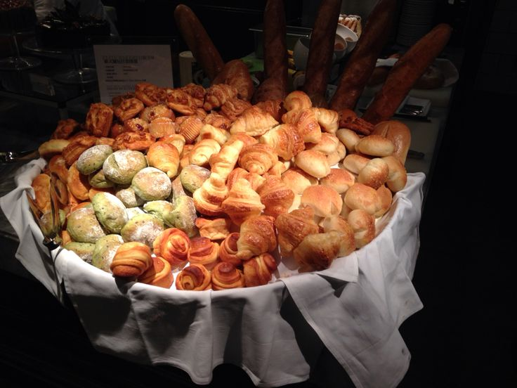 Bread table from an all you can eat buffet restaurant