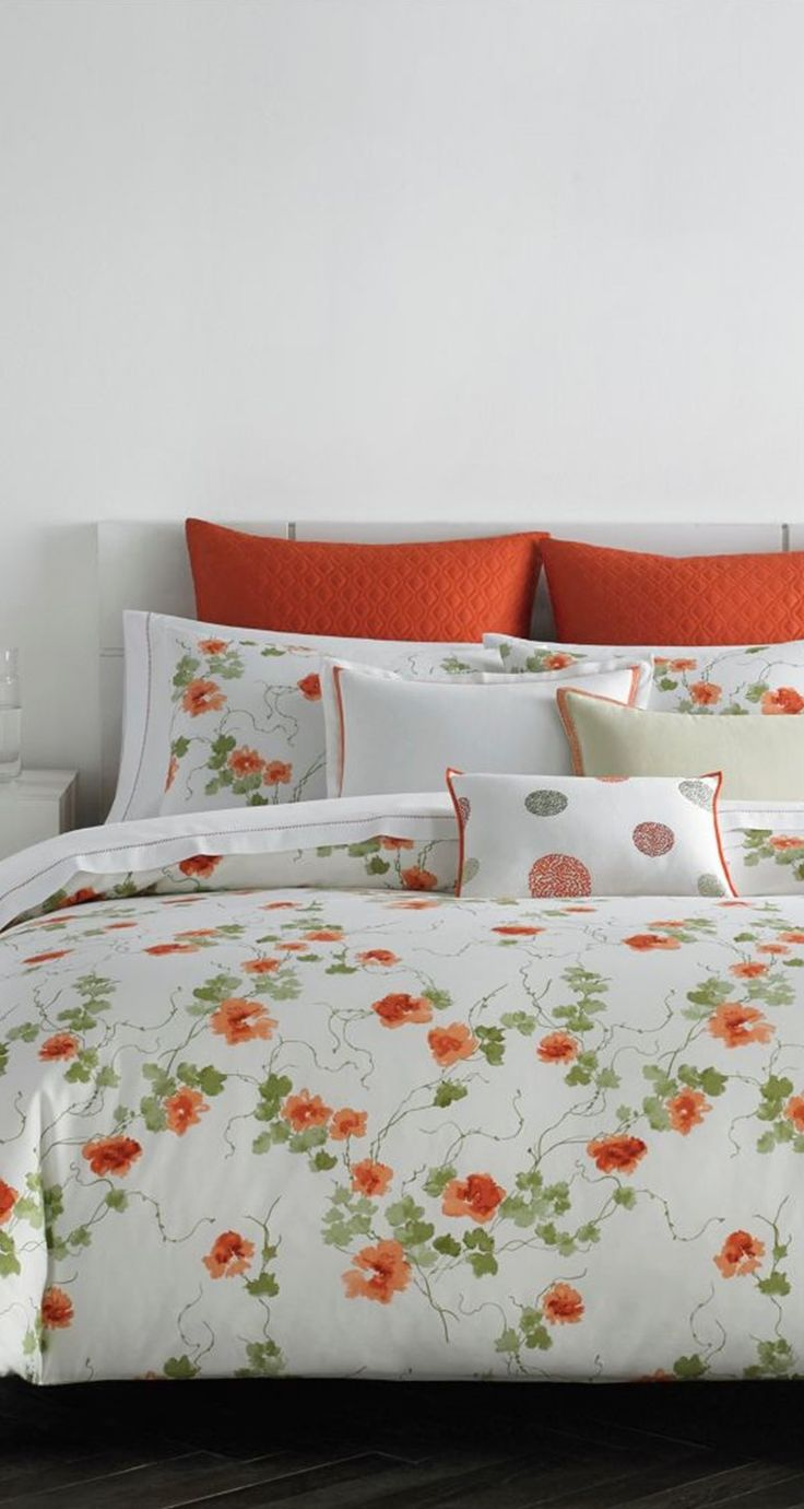 best bedtime images on pinterest  bedtime comforter and  - vera wang 'orange blossom' bedding collection available at