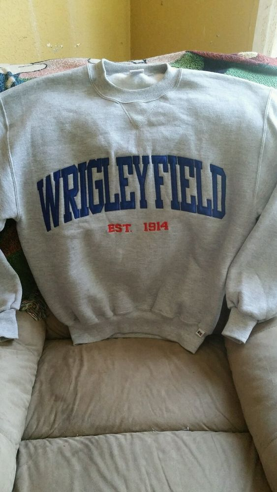 Wrigley Field Sweatshirt Chicago Cubs Baseball  #RussellAthletic #ChicagoCubs