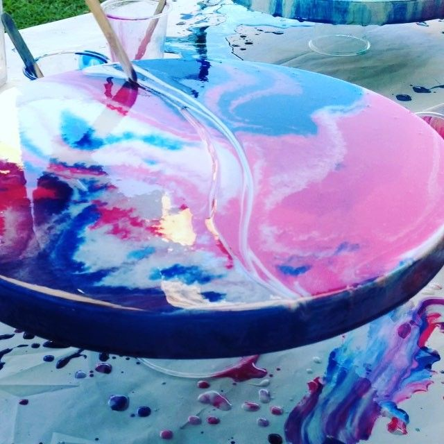 #resin #resinart #resinartist #brisbaneartist #artwork #artlife #freshair #fumes #colour #flow #fluidpaintings #interiorart #timelapse #timelapsevideo #artvideo #abstract #abstractart #allfortheprocess resin art video