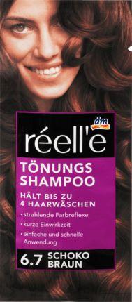 Das réell'e Tönungsshampoo sorgt für strahlendene Farbreflexe und einen seidigen Glanz. Hält bis zu 4 Haarwäschen.