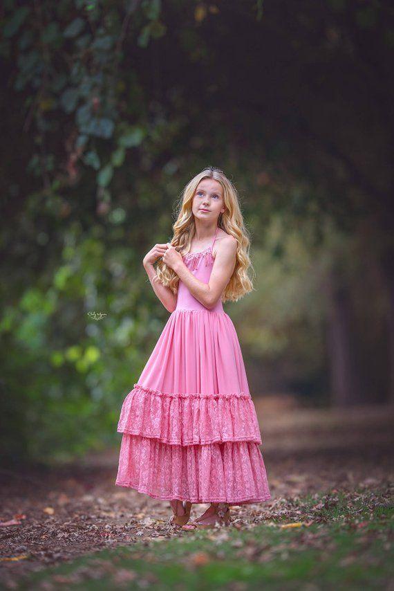 54ac44f2241 Pink Flower Girl Dress