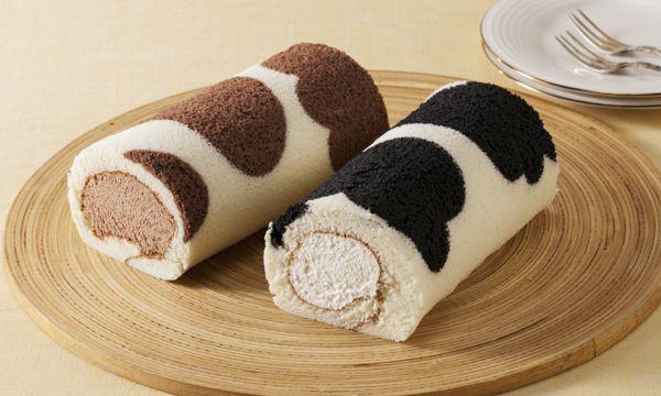 牛柄ロールケーキ 2本セットの内容画像