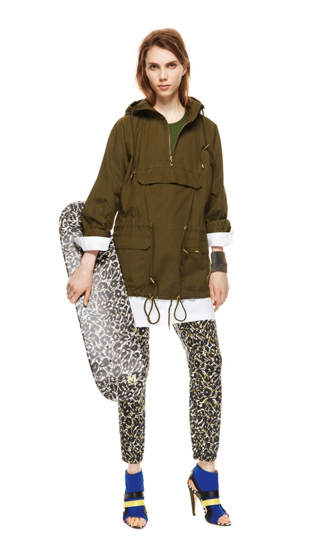 #MMissoni | Army Green Parka & Camouflage Trousers | Spring 2014 Collection