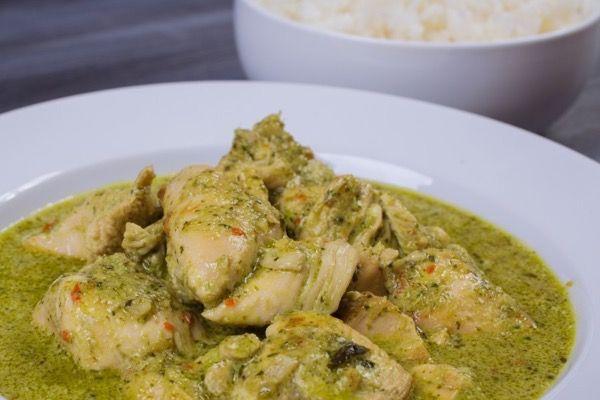 Зелёный карри с курицей, пошаговый рецепт