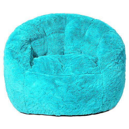 Faux Fur Bean Bag Chair - Teal | ToysRUs