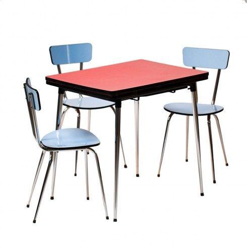 "Table en formica rose années 60 ""Movida"""