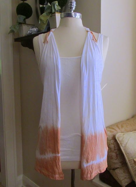 Diy tie-dye t-shirt vest.. so cool! I might do something a lil different for the back, but otherwise it's so cute!