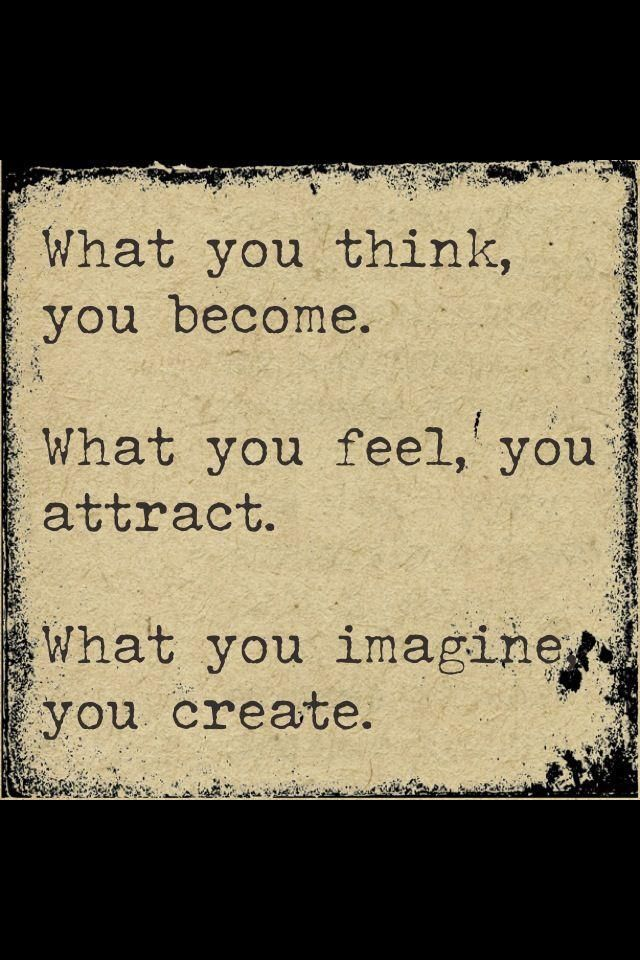 Buddha Quote Law of Attraction/You become what you believe