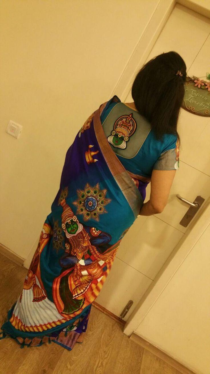 Samarphanam mural paintings with designer blouse