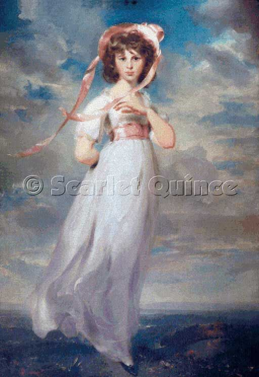 Scarlet Quince cross stitch chart: Pinkie - Sir Thomas Lawrence