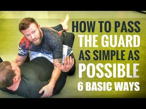 Jiu-Jitsu Guard Passes   6 Basic but Effective Guard Passes for Gi or No Gi - YouTube
