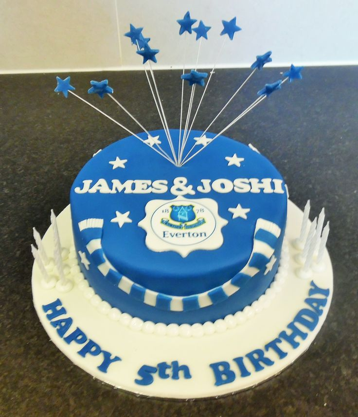Football supporters cake (Everton)