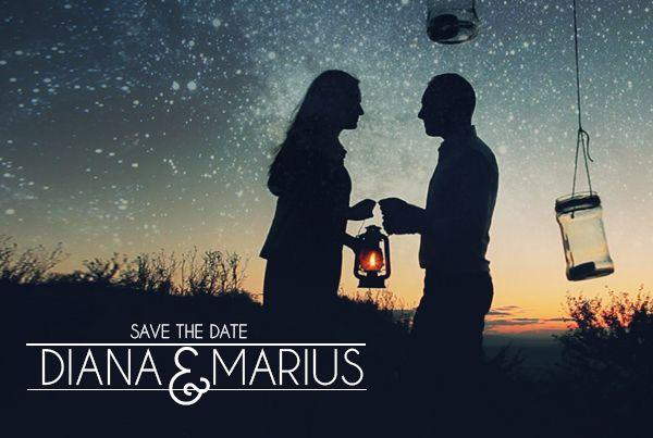 "Diana & Marius – save the date – ""sky full of stars"""
