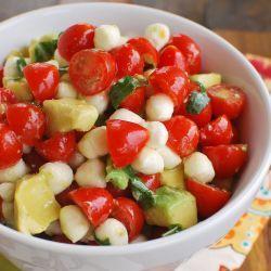 Mozzarella, Tomato, Avocado Salad - the perfect summer salad!