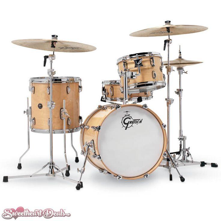 Gretsch Renown 4 Piece Drum Set Shell Pack (18/12/14/14sn) Gloss Natural