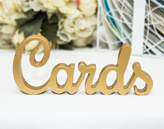"Wedding Cards Sign for Cards Table - Freestanding ""Cardss"" - Wooden Wedding Sign for Reception Decorations (Item - TCA100) on Etsy, $22.00"
