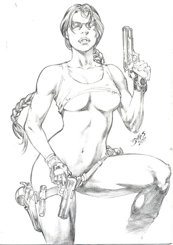 Ed Benes: Lara Croft by comiconart.deviantart.com on