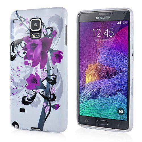 Samsung Galaxy Note 4 Ultra Slim Gel Protective Case - Flower