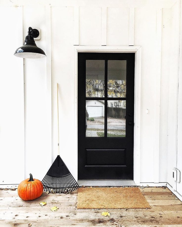 Classic, simple & not-so-scary, get the look of @TheFauxMartha's porch style (including our Carson warehouse fixture!) via link in profile. #halloween #porch #lighting #rejuvespotted