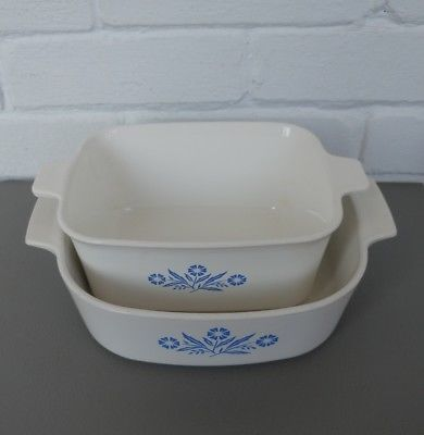 Corning Ware Blue Cornflower Casserole Dishes. 2 quarts and 1 1/2