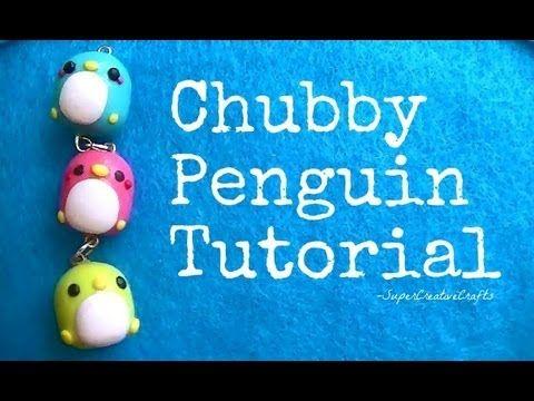Chubby Penguin Tutorial.!(: [Polymer Clay] && [Kawaii], via YouTube.